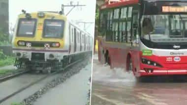 Mumbai Traffic Updates: मुंबईत जोरदार पावसाने लोकल ट्रेन, BEST Bus चा वेग मंदावला; इथे पहा अपडेट्स
