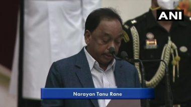 Modi Cabinet Reshuffle: महाराष्ट्राचे माजी मुख्यमंत्री, खासदार Narayan Rane यांनी घेतली मंत्रीपदाची शपथ (Watch Video)