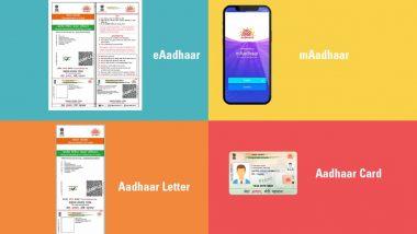 Aadhaar Letter, eAadhaar, mAadhaar आणि Aadhaar PVC Card मध्ये नेमका फरक काय? जाणून घ्या