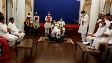 Maharashtra Congress Delegation With Bhagat Singh Koshyari: वाढती महागाई आणि इंधन दर याकडे लक्ष वेधण्यासाठी महाराष्ट्र कॉंग्रेसचं शिष्टमंडळ राज्यपालांच्या भेटीला