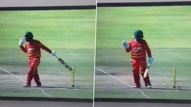 ZIM vs BAN ODI 2021: झिम्बाब्वेच्या Brendon Taylor ने स्वतःच्या पायावर मारली कुऱ्हाड, बांग्लादेशविरुद्ध कर्णधाराच्या विकेटचा व्हिडिओ पाहून डोक्यावर माराल हात