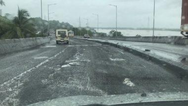 Maharashtra Rains: मुसळधार पावसाने वैतरणा नदीवरील पूल गेला वाहून; ठाण्यात Mumbra Bypass Road चं नुकसान
