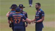 IND vs SL 1st T20I: भारतीय गोलंदाजांचा भेदक मारा, श्रीलंकेविरुद्ध पहिल्या टी-20 सामन्यात धवन ब्रिगेडची विजय सलामी