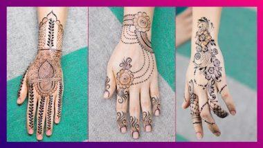 Bakri Eid 2021 Mehandi Designs: बकरी ईद च्या खास दिवसासाठी हातावर काढा 'या' सुंदर आणि सोप्या मेहंदी डिझाईन
