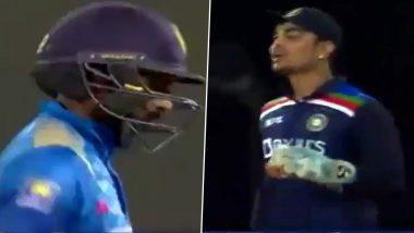 IND vs SL 2021: 'बोल के मारा रन आउट'... Ishan Kishan ने आधी श्रीलंकन फलंदाजाला दिली चेतावणी मग दाखवला पॅव्हिलियनचा रस्ता (Watch Video)