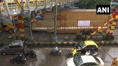 Mumbai: किंग्स सर्कलच्या येथे रेल्वे पुलाच्याखाली कंन्टेनर अडकल्याने मोठ्या प्रमाणात ट्राफिक जाम