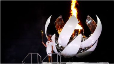 Tokyo Olympics 2020: उदघाटन सोहळ्यात जपानी टेनिसपटू Naomi Osaka ने पेटवली ऑलिम्पिक Cauldron, अधिकृतपणे झाली खेळांची सुरुवात