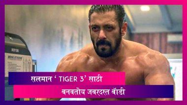 Tiger 3 साठी Salman Khan बनवतोय जबरदस्त बॉडी; जिममध्ये घाम गाळत असतानाचा व्हिडिओ केला शेअर