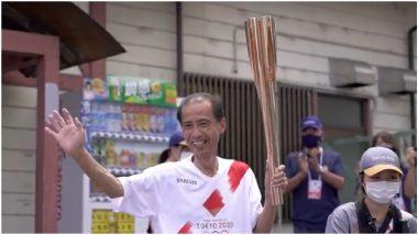 Tokyo Olympics 2020: ऑलिम्पिक ज्योत टोकियो येथे दाखल, 23 जुलै रोजी होणार आहे उद्घाटन समारंभ (Watch Video)