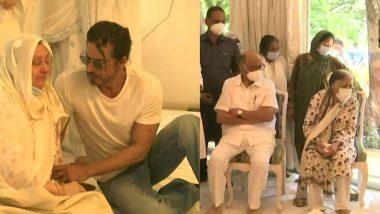 Dilip Kumar Funeral: शरद पवार, अनिल कपूर ते SRK पोहचले दिलीप कुमार यांच्या घरी; Saira Banu चे केले सांत्वन
