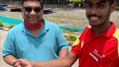 भाऊ कदम साठी फॅन ने  हातावर गोंदवलं अभिनेत्याचं नाव; पहा 'या' जबर्या फॅनचा फोटो