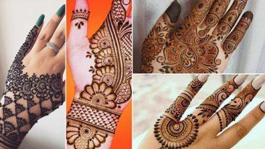 Bakri Eid 2021 Mehndi Designs: बकरी ईद च्या दिवशी हातावर काढा 'या' सुंदर आणि आकर्षक मेहंदी डिझाईन
