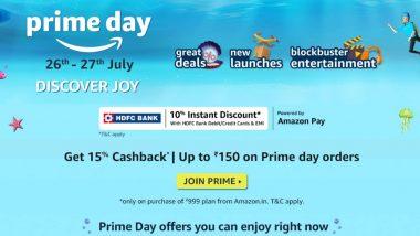 Amazon Prime Day Sale 2021: iPhone 11, OnePlus 9R, Galaxy M31s या स्मार्टफोन्सवर 40% सूट; लॅपटॉप्सवर जबरदस्त डिस्काऊंट