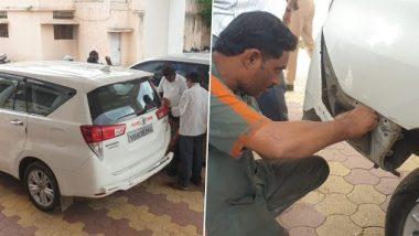 Varsha Gaikwad: शिक्षणमंत्री वर्षा गायकवाड यांच्या वाहनाला अपघात, भरघाव टेम्पोची पाठीमागून धडक
