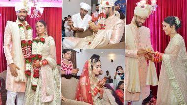 भारतीय क्रिकेटपटू शिवम दुबेने गर्लफ्रेन्ड अंजुम खानशी केले लग्न, पाहा फोटो