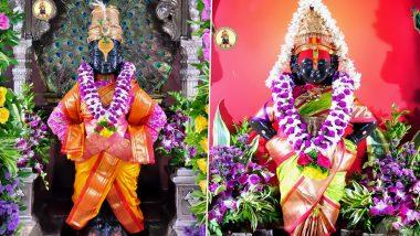Janmashtami 2021: जन्माष्टमीनिमित्त पंढरपूरच्या विठ्ठल रुक्मिणी मंदिरात फळाफुलांची आकर्षक आरास; पहा Photos