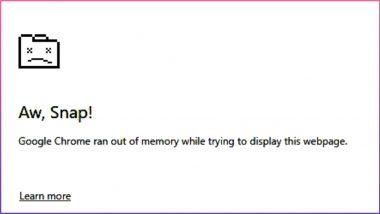 Aw, Snap एरर आल्याने Google Chrome वापरताना अडचणी? कशी दूर कराल समस्या?