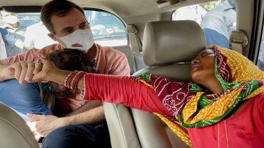 Congress: बलात्कारपीडित मृत मुलीच्या आईची राहुल गांधी यांच्याकडून दिल्ली येथे भेट