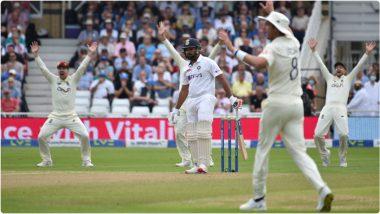 IND vs ENG 1st Test Day 2: दिवसाच्या पहिल्या स्तरावर भारताचे राज्य, लंचपर्यंतभारताचा स्कोर97/1 तर केएल राहुल अर्धशतकानजीक