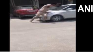 Punjab: पटियाला मध्ये कार ड्रायव्हरची पोलीस कर्मचाऱ्याला जोरदार धडक, कॅमेऱ्यात व्हिडिओ कैद (Watch Video)