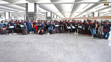IPL 2021: आयपीएल 14 व्या हंगामाच्या दुसरा टप्प्यासाठी RCB चा संघ यूएईसाठी रवाना, आरसीबीच्या ट्विटर हँडलवरून शेअर केला फोटो