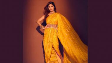Janmashtami 2021: अभिनेत्री शिल्पा शेट्टी कुंद्रा हिचा जन्माष्टमी निमित्त पिवळ्या रंगातील धोती सारख्या साडीतील सुंदर फोटो पहा (Pics)