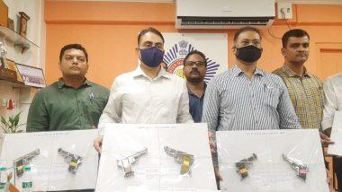 मुंबई क्राईम ब्रांच कडून विक्रोळी मधून दोघांना अटक; 8 पिस्तुल आणि लाईव्ह बुलेट्स जप्त