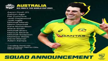 ICC T20 Worldcup 2021: आयसीसी टी20 विश्वचषकासाठी ऑस्ट्रेलियाचा संघ जाहीर, 'या' खेळाडूंना मिळाली संधी
