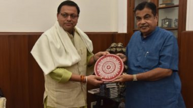 Pushkar Singh Dhami Meets Nitin Gadkari: नवीन राष्ट्रीय महामार्गासाठी केंद्र सरकारकडून मिळणार 1000 कोटी, केंद्रीय रस्ते वाहतूक आणि महामार्ग मंत्री नितीन गडकरींनी 'या' राज्याला दिले आश्वासन