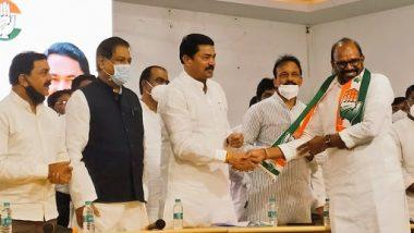 Ashok Shinde Joined Congress: माजी राज्यमंत्री अशोक शिंदे यांचा काँग्रेसमध्ये प्रवेश