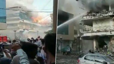 Gujarat Fire: फटाक्यांच्या दुकानाला लागलेल्या आगीत एक कार, 7 दुचाकी जळून खाक; अग्निशमनदलाचा जवानही जखमी