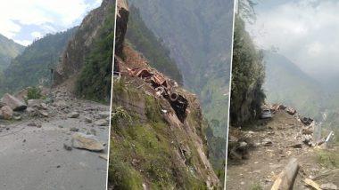 Landslide in Kinnaur: हिमाचल प्रदेशात  रिकांग पियो-शिमला हायवे वर दरड कोसळली; 40 जण दबल्याची भीती (Watch Video)
