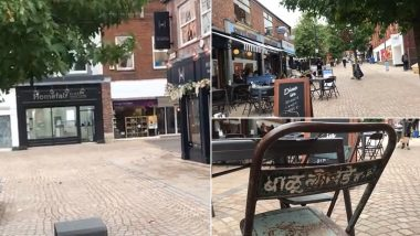 भंगारात विकलेली लोखंडी खुर्ची मँचेस्टर मधील रेस्टॉरंट बाहेर दिमाखात उभी; पहा Viral Video