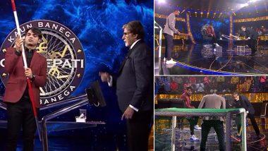 KBC 13: गोलकीपर PR Sreejesh समोर अमिताभ बच्चन यांचा हॉकीचा खेळ; पहा व्हिडिओ