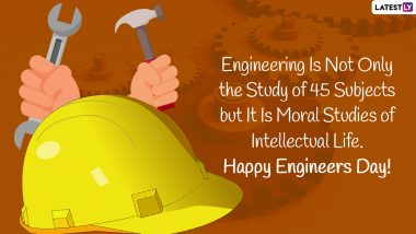 Happy Engineer's Day 2021 Wishes: इंजिनियर्स डे च्या शुभेच्छा WhatsApp Status, HD Images द्वारा शेअर करत भारतीय अभियंतांना द्या शुभेच्छा