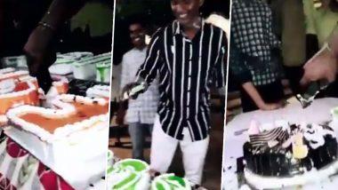 कर्नाटक मध्ये भाजपाच्या MLA Basavaraj Dadesugur यांच्या लेकाने iPhone ने कापला बर्थ डे केक; 'संपत्ती प्रदर्शना'चा संतापजनक प्रकार (Watch Video)