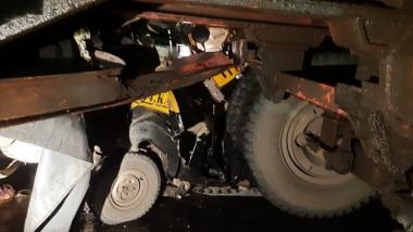 Thane: कापुरबावडी-नाशिक फ्लायओव्हरवर ट्रकची रिक्षाला धडक बसल्याने 2 जण जखमी