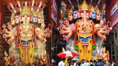Tallest Ganesh Idol in India Streaming Online: देशातील सर्वात उंच Khairatabad Ganesh मूर्तीची स्थापना; घरबसल्या घ्या Live दर्शन