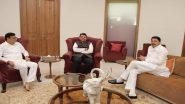 काँग्रेस प्रदेशाध्यक्ष नाना पटोले, महसूलमंत्री बाळासाहेब थोरात यांनी घेतली देवेंद्र फडणवीस यांची भेट