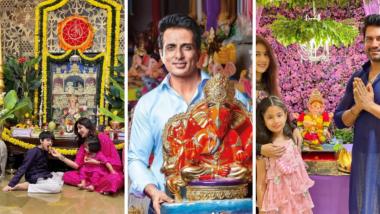 Ganesh Chaturthi 2021: बॉलिवूड अभिनेत्री शिल्पा शेट्टी ते टेलिव्हिनज कलाकार राहुल वैद्य यांच्या घरातील गणेशोत्साचे सेलिब्रेशन Watch Video