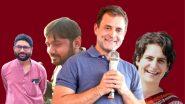 कन्हैया कुमार, जिग्नेश मेवाणी काँग्रेसच्या वाटेवर, राहुल गांधी, प्रियंका गांधी यांची दुसऱ्यांदा भेट; 2 ऑक्टोबरला पक्षप्रवेश होण्याची शक्यता