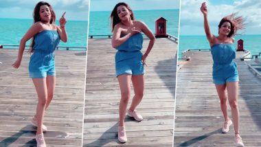 Monalisa Hot Dance Video: समुद्राच्या किनारी शॉर्ट ड्रेस घालून भोजपूरी अभिनेत्री मोनालिसा हिच्या हॉट डान्सचा व्हिडिओ पहाच (Video)