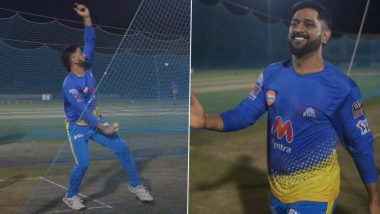 IPL 2021: शारजाह मध्ये RCB विरुद्ध ब्लॉकबस्टर सामन्यापूर्वी धोनी विरुद्ध जडेजा यांच्यात रंगला सामना, MSD ने गोलंदाजीत दाखवला दम (Watch Video)