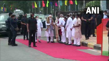 PM Narendra Modi यांचे भारतात आगमन, भाजप अध्यक्ष जेपी नड्डा यांच्याकडून स्वागत