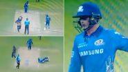 IPL 2021: कोलकाताविरुद्ध Quinton de Kock च्या 'बुलेट' चौकाराने थोडक्यात बचावले रोहित शर्माचे प्राण, पाहा व्हिडिओ