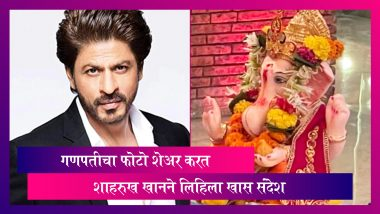 Shah Rukh Khan Shares Glimpse Of Ganapati Bappa Before Visarjan: शाहरुख खानने गणपती विसर्जनाचा फोटो शेअर करत लिहिला भावनिक संदेश