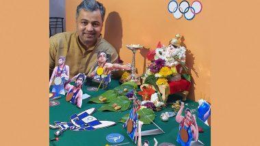Ganeshotsav 2021: Subodh Bhave  च्या घरी बाप्पाची आरास Tokyo Olympics 2021 पदक विजेत्यांची; पहा त्याचा फोटो