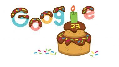 Google's 23rd Birthday: गूगलच्या 23 व्या वाढदिवसानिमित्त खास केक थीम्ड डूडल