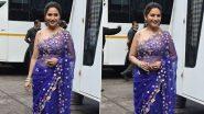 बॉलीवुड अभिनेत्री माधुरी दीक्षित मुंबईमध्ये एका शूट दरम्यान झाली स्पॉट