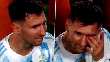 Lionel Messi Hat-trick: मैदानावर हॅटट्रिक करत लिओनेल मेस्सीने पेलेचा मोडला विक्रम, आनंदाने कोसळले रडू